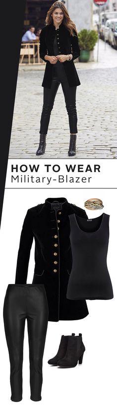 Bereit für ein atemberaubendes Outfit  Aye aye, sir! Der Military-Blazer von f543810c94