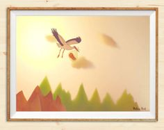 Paper scenery https://www.etsy.com/it/listing/499118924/the-stork-paper-theater-series-print-a3?ref=listing-shop-header-1 #paper #theater #illustration #print #walldecor #etsy #print #madameprint #walldecor #printable #newborn