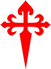 The Cross of Saint James, the symbol of the Order of Santiago; the hilt is surmounted with a scallop.