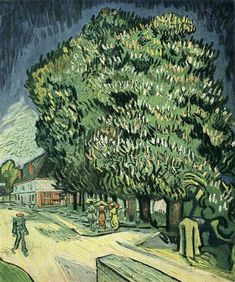Chestnut Trees in Blossom, 1890, Vincent van Gogh Size: 58x70 cm Medium: oil on canvas