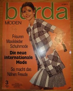 70s Burda Magazine with Sewing Patterns by willynillyart on Etsy, $15.00