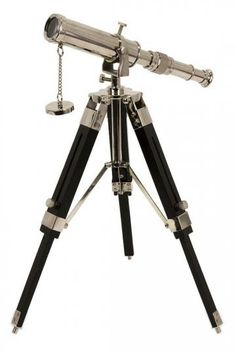 A functional yet highly decorative telescope from Home Decorators Collection. Steampunk? I don't know. But very nice.