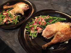 Indian pot roast chicken with Indian spice salad