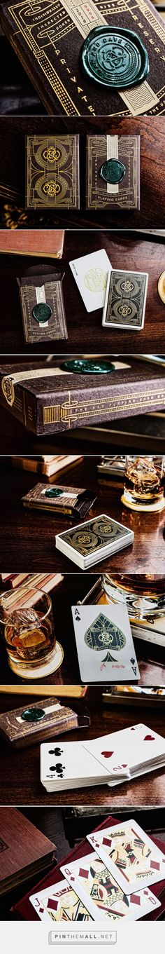 Dan & Dave Private Reserve playing cards packaging design by Jeff Trish - http://www.packagingoftheworld.com/2017/12/dan-dave-private-reserve.html