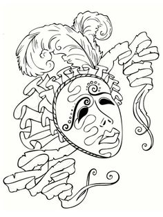 coloriage masque carnaval venise - Bing Images