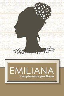 Frente do Folheto de divulgação institucional da loja Emiliana Complementos para Noivas.