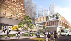 Iniciadas as obras do complexo multiuso projetado pelo SHoP  em Tijuana