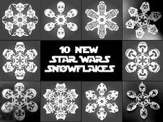 DIY paper snowflake Star wars :) @Katherine Adams Adams Adams Rodriguez Ramirez