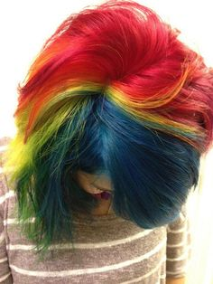 Jackie's rainbow hair.  by ugg-off, via Flickr