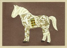 Horse Cut Out Template | Iris Folding @ CircleOfCrafters.com 2011 Free Patterns of the Month