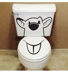 Sticker WC souris | Fanastick.com Vinyl Crafts, Vinyl Projects, Sticker Toilette, Stickers Wc, Baby Animals Pictures, Silhouette Portrait, Art Reference Poses, Bathroom Accessories, Interior Decorating