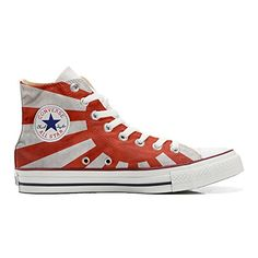 Converse All Star personalisierte Schuhe (Handwerk Produkt) mit Japan-Flagge - http://on-line-kaufen.de/make-your-shoes/converse-all-star-personalisierte-schuhe-mit-2