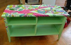 mueble pintado