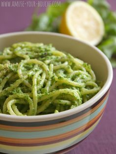creamy avocado & arugula pasta (+recipe)
