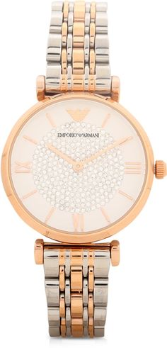 Emporio Armani Analog Watch - For Women Dial Color: White,Dial Shape: Round,Strap Color: Silver lowest price in India on February 2017 Online Shopping Websites, Emporio Armani, Michael Kors Watch, Gold Watch, February, India, Shape, Watches, Silver