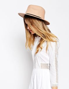 Image 1 of ASOS Felt Panama Hat With Braid Braid Trim NEW IMPROVED FIT