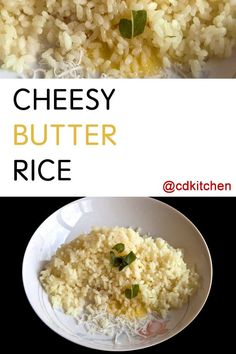 Spice up your rice, spice up your life! A little butter and parmesan adds depth of flavor to basic white rice and makes it into an easy, satisfying side dish. Throw in some Italian sausage to make it a meal. | CDKitchen.com