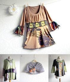 recycled upcycled boho bohemian plus size womens clothing handmade etsy