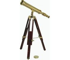 #Nauticalia harbour master #brass telescope & wooden adjustable #tripod,  View more on the LINK: http://www.zeppy.io/product/gb/2/282135334147/