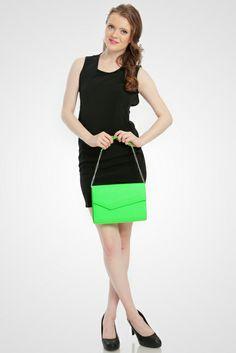 Piper Neon Clutch Bag  #clutchbag #taspesta #handbag #clutchpesta #fauxleather #kulit #party #simple #casual #elegant #fashionable #colors #green Kindly visit our website : www.zorrashop.com