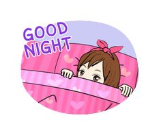 LINE Creators' Stickers - May so cute animated Example with GIF Animation Romantic Good Night Messages, Good Night Love Quotes, Cute Good Night, Good Night Gif, Good Night Sweet Dreams, Good Night Image, Cute Love Pictures, Cute Love Gif, Cute Cat Gif