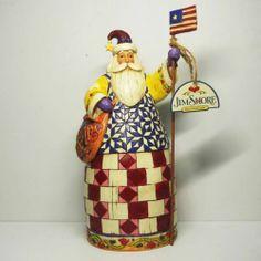 "Jim Shore Heartwood Creek Patriotic Santa ""United We Stand"" Good Quality AC9 3 | eBay"