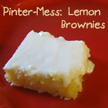 Pinter-MESS: Lemon Brownies That Went From Bad To Worse