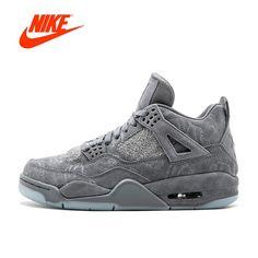 333496d68e37 New Arrival Official Cool Grey Nike KAWS x Air Jordan 4 New Mens Nike Shoes