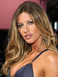 Custom 16 Inches Gisele Bundchen's Hairstyle Long Wavy 100% Human Hair Lace Front Wig
