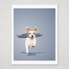 Ginny the Super Jack Russell Terrier  by DieselAndJuice on Etsy, $18.00