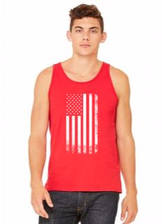 vintage usa flag 7 - tank top
