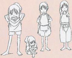 Film: Spirited Away (千と千尋の神隠し) ===== Character Design - Model Sheets: Chihiro (Sen) ===== Hayao Miyazaki
