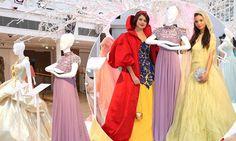 Disney princess dresses go on display at Christies #DailyMail