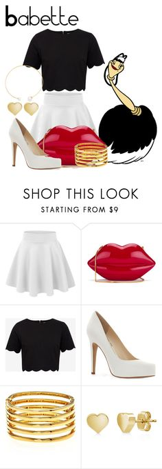 """Babette"" by sjade9 ❤ liked on Polyvore featuring Disney, Lulu Guinness, Ted Baker, Jessica Simpson, Kenneth Jay Lane, BERRICLE, Fallon, modern, disney and disneybound"