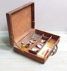 Art supply travel case