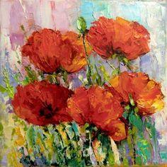 Flowers poppies by Skobeleva Liliya