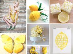 {make lemonade} bright  yellow wedding