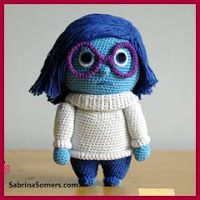 Crochet pattern Sadness Free – Sadness (Inside Out) amigurumi crochet pattern // by Sabrina's Crochet Crochet Gratis, Crochet Patterns Amigurumi, Knit Or Crochet, Cute Crochet, Crochet For Kids, Amigurumi Doll, Crochet Toys, Knitting Projects, Crochet Projects