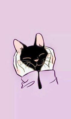 10 Wallpapers of Super Cute Kittens! - A Zeichnungen - Cats Wallpaper Gatos, Cute Cat Wallpaper, Kawaii Wallpaper, Cat Phone Wallpaper, Trendy Wallpaper, Disney Wallpaper, Galaxy Wallpaper, Chat Kawaii, Kawaii Cat