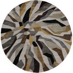 Hand-tufted Barnes Contemporary Abstract Round Rug (8' Round) - Overstock™ Shopping - Great Deals on Round/Oval/Square