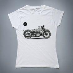 Vintage motorcycle tshirt by manuelsart.com portfolio / Manuel De La Fuente