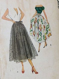 1940s skirt pattern - love old-fashioned dresses.