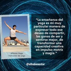 Frase sobre el Día Internacional del Yoga - Alfonso Vega para Atha Bienestar Frases Yoga, Movie Posters, Movies, Feel Better, International Day Of, Wellness, Film Poster, Films, Movie