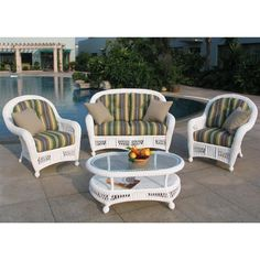 Chicago Wicker Montego 4-Pc. Wicker Patio Furniture Collection