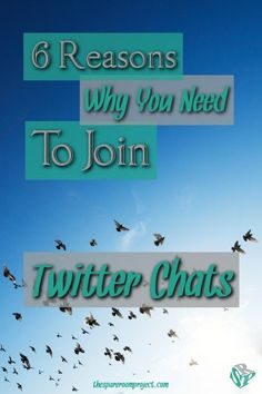 If you want to grow your business or blog, you need to join Twitter Chats!  They're fun and help you grow your social media reach, as well as find new bloggers and business friends.