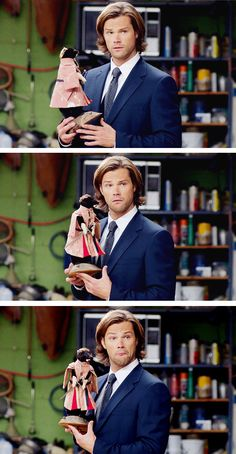 Sam Winchester | Supernatural  Totally a jared thing. I bet they didn't even have to write that in. Lol