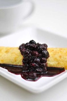 Ricotta Crepes with Blueberry Sauce