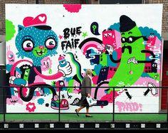 graffiti Ghent - Bue the Warrior / Faif