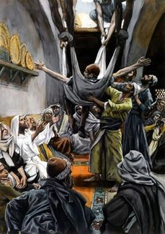 Man with Palsy Lowered to Christ - James Tissot