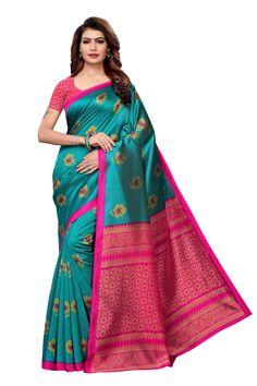 sweetiepie fashion multicolor Mysore Silk Printed saree